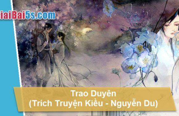 Đề 47 – Về đoạn trích Trao duyên (trong Truyện Kiều của Nguyễn Du).
