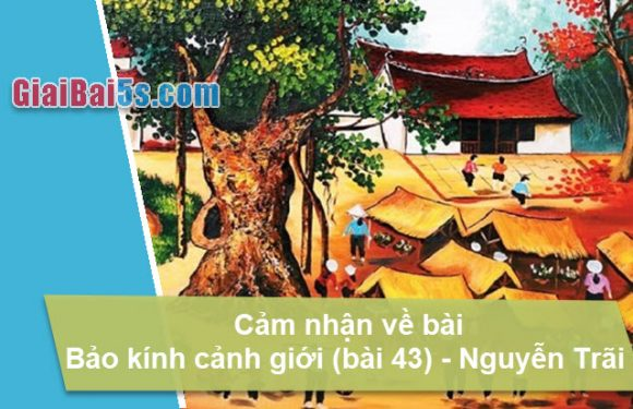 Đề 21: Cảm nhận về bài Bảo kính cảnh giới (bài số 43) của Nguyễn Trãi.