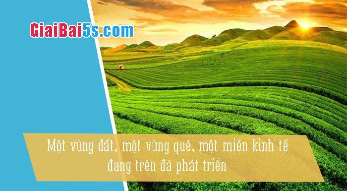Phần thứ nhất : Văn miêu tả-IV. Tả phong cảnh, cảnh vật-Bài số 20. Tả một vùng đất, vùng kinh tế đang phát triển (cao nguyên Mộc Châu)