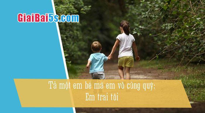 Phần thứ nhất : Văn miêu tả-I. Tả người-Bài số 22. Tả một em bé (là em, là cháu hoặc bà con…) mà em vô cùng yêuquý: Em trai tôi